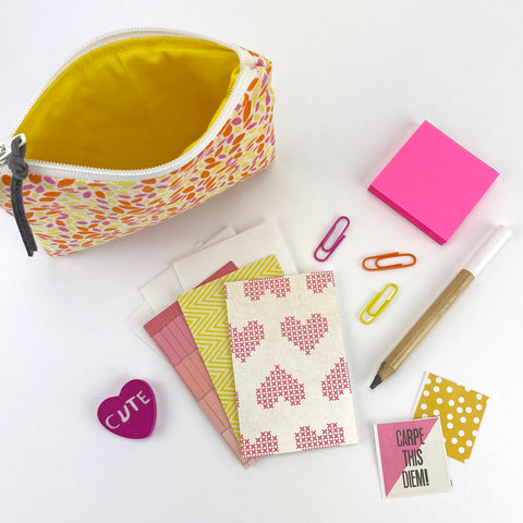 Bright Pouch Stationery Set