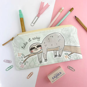 Sloth Zipper Pouch