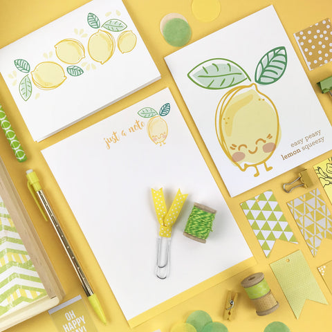 Deluxe Lemon Boxed Stationery Set