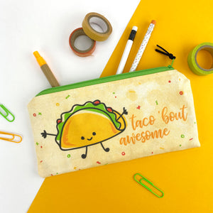 Taco' bout Awesome Zipper Pouch