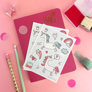 Magical Unicorns Sticker Sheets