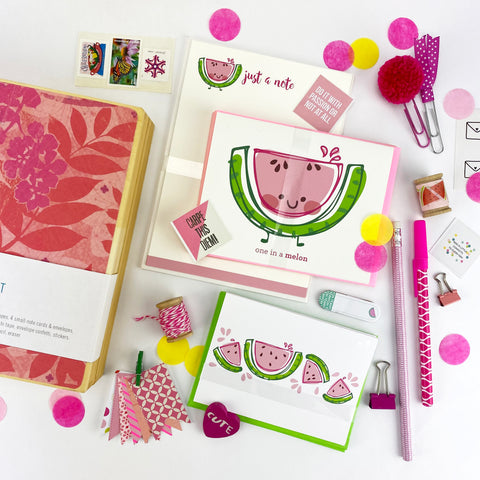 Deluxe Watermelon Boxed Stationery Set