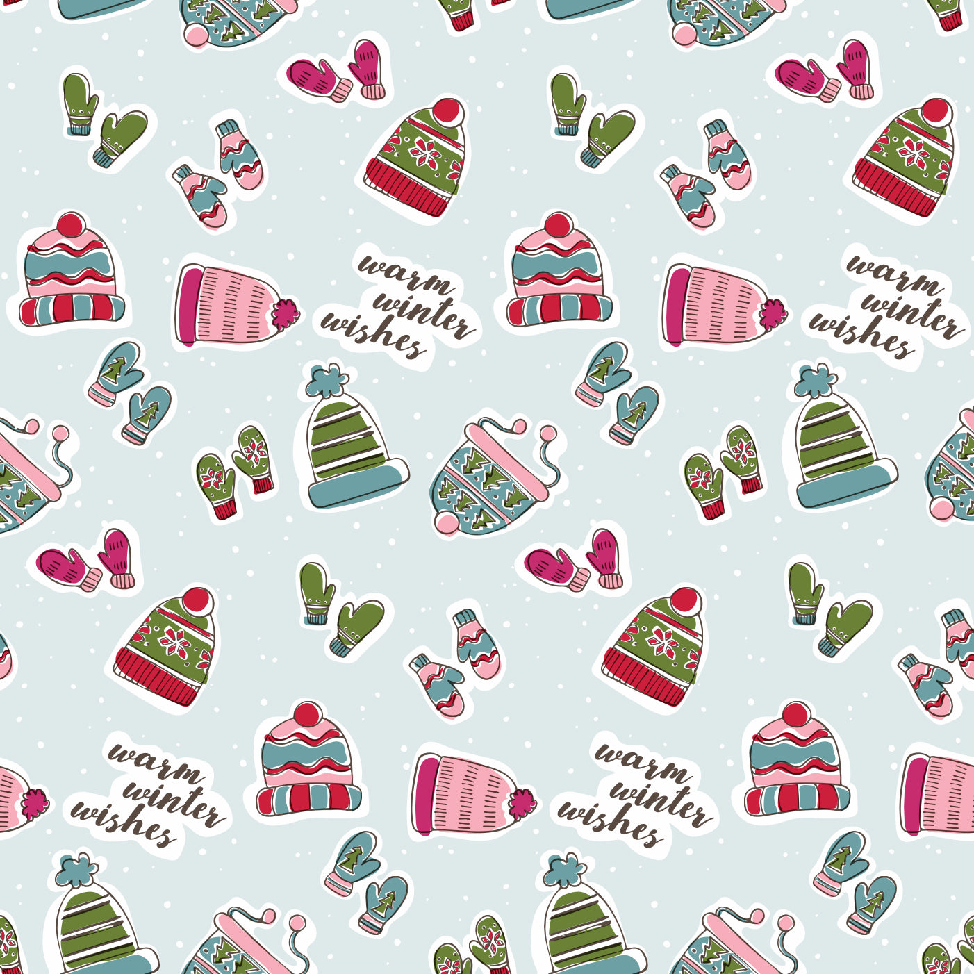 Winter Hats Wrapping Paper