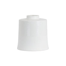 Load image into Gallery viewer, white cylindrical ceramic vase