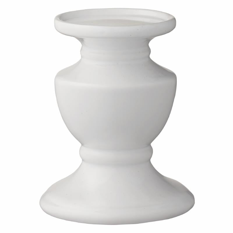 Ceramic White Candle Holder