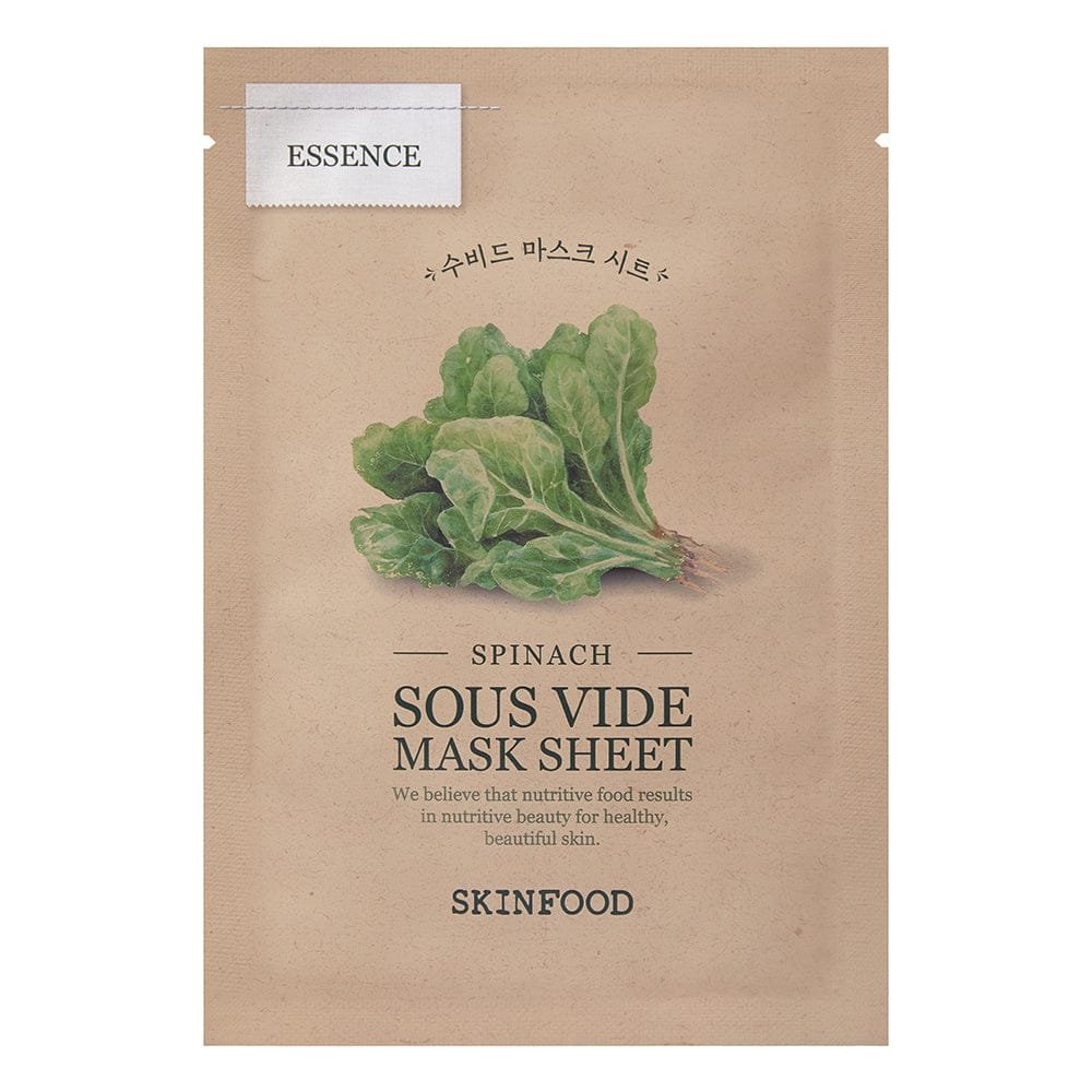 SKINFOOD SPINACH SOUS VIDE MASK SHEET [ SET -5 ] : all skin type