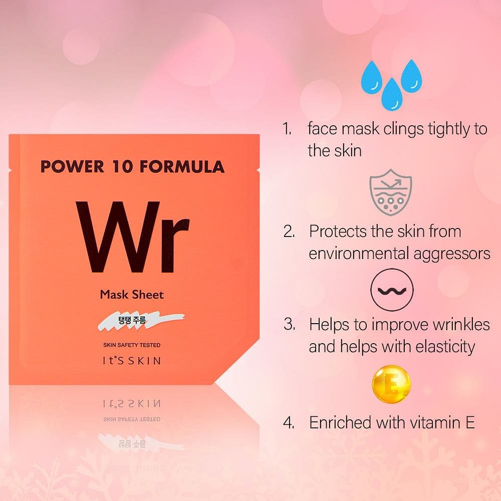 It's Skin Power 10 Formula Mask Sheet WR (set-5) For Anti-Wrinke and Elasticity Unisex