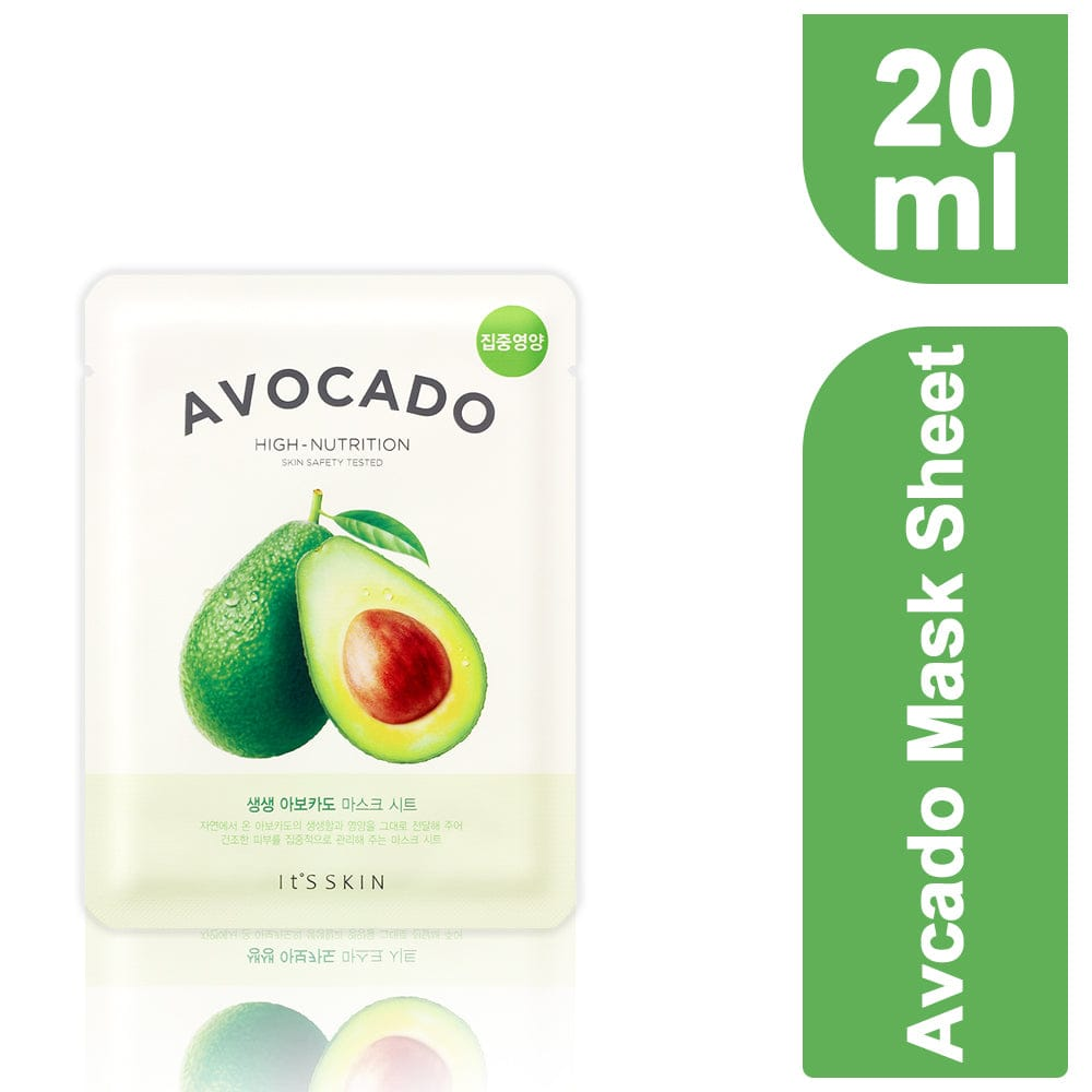 It's Skin The Fresh Mask Sheet -Avocado (Set-5) For Nourishment and Refreshment Unisex