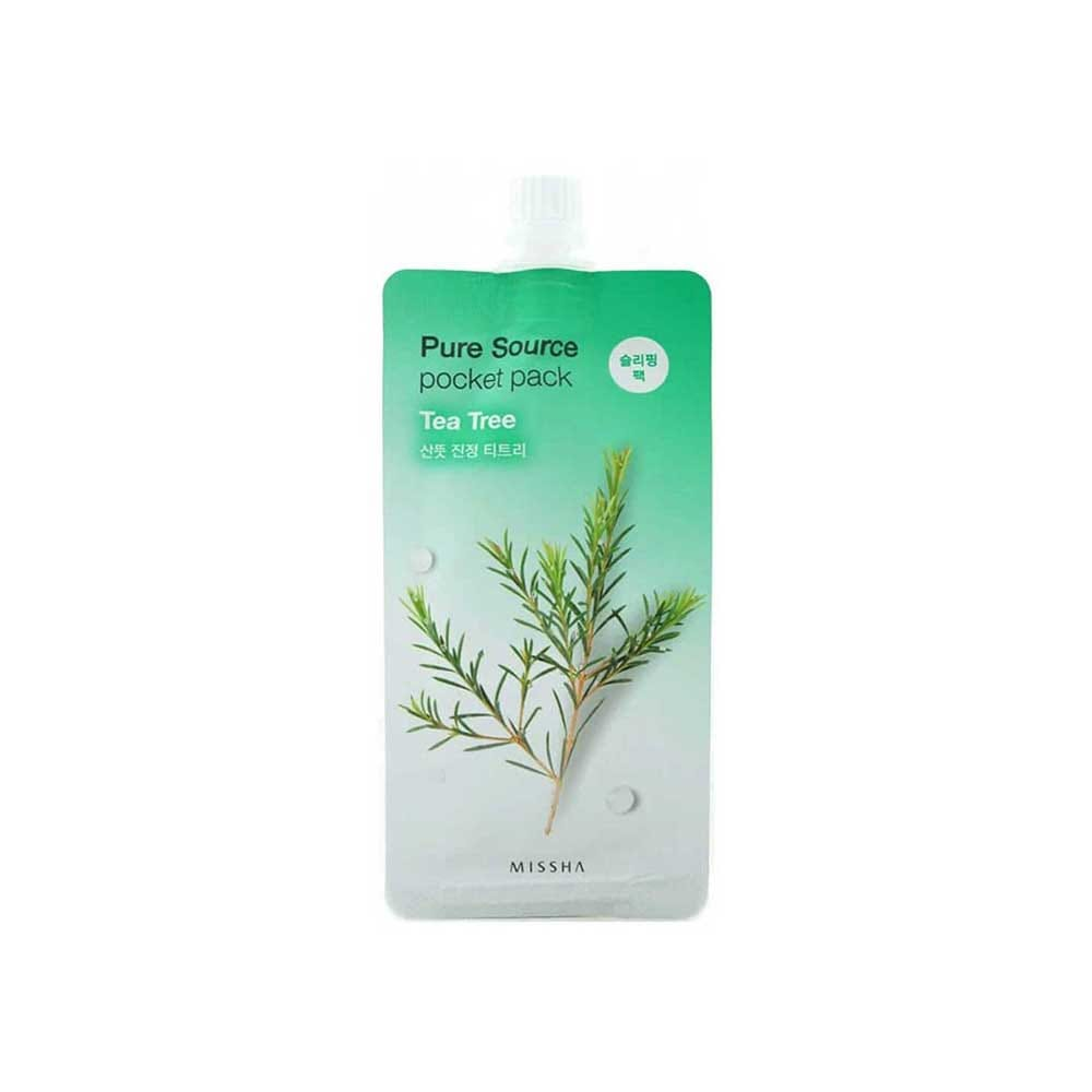 MISSHA Pure Source Pocket Pack (Tea Tree) [Set-5] For Fresh and Clear Skin Women