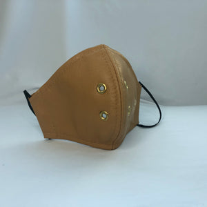 Beige Leather Mask