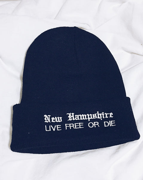 New Hampshire Live Free or Die beanie - ikeara