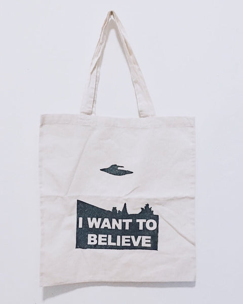 I Want to Believe Tote Bag - ikeara