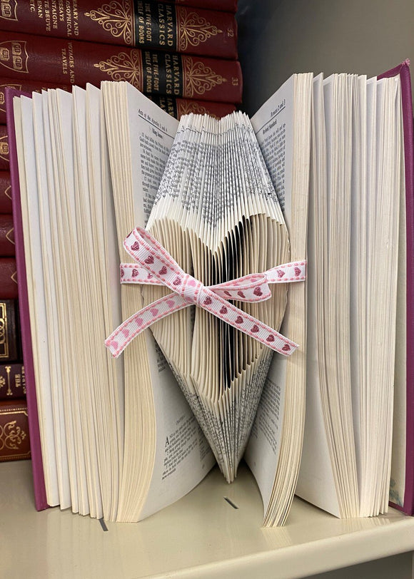 Custom Folded Heart Book