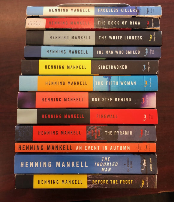 Henning Mankell Complete Wallander Series Bundle