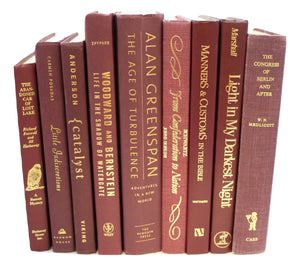 Cherry-Pick: Maroon Books by the Foot