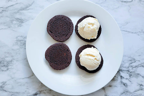 Ice Cream Cookie Sandwiches on plate