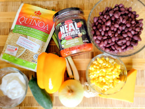 Ingredients for Mexican Quinoa Recipe