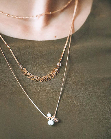 Layered Necklaces with Pendant