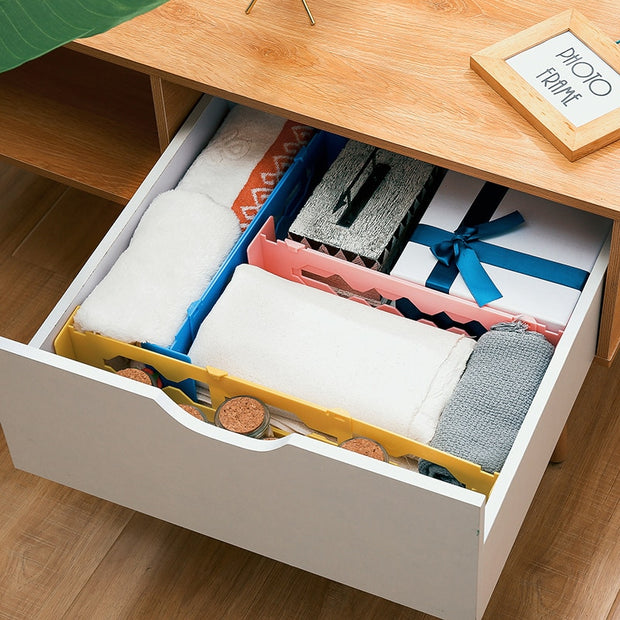 Multi-Purpose Plastic Adjustable Drawer Dividers