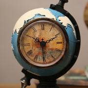 Vintage Resin Globe With Clock