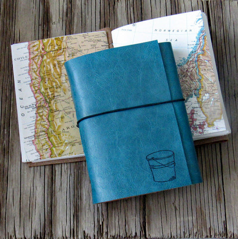 bucket list journal: blue