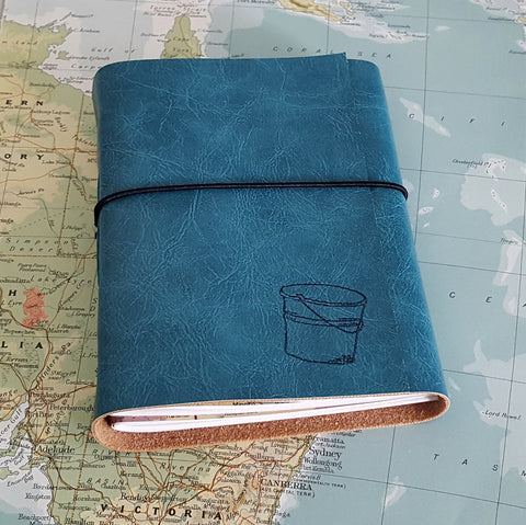 bucket list journal: turquoise / teal
