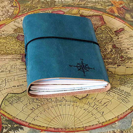 explorer journal: turquoise / teal blue