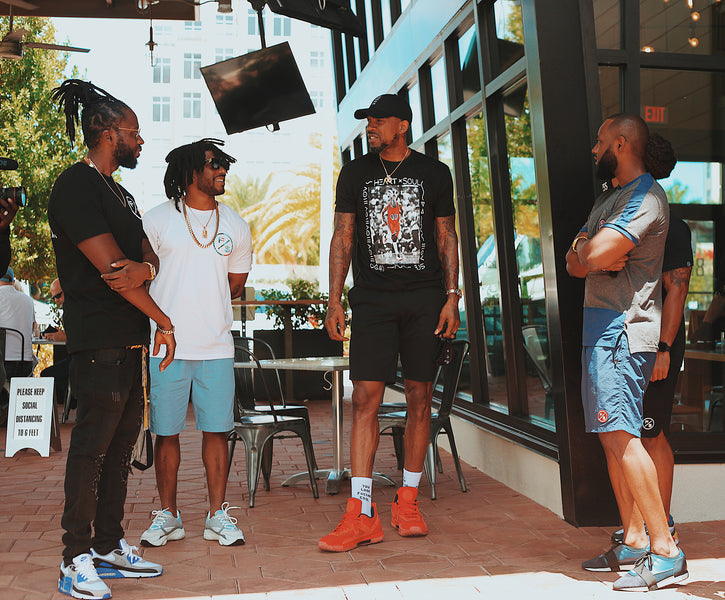 Udonis Haslem drops some gems with the guys from Fly Supply Clothing at 800 Degrees Miami