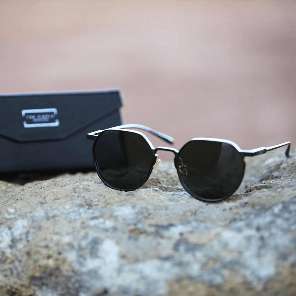 Black Hexagonal Sunglasses - The Simple Selection