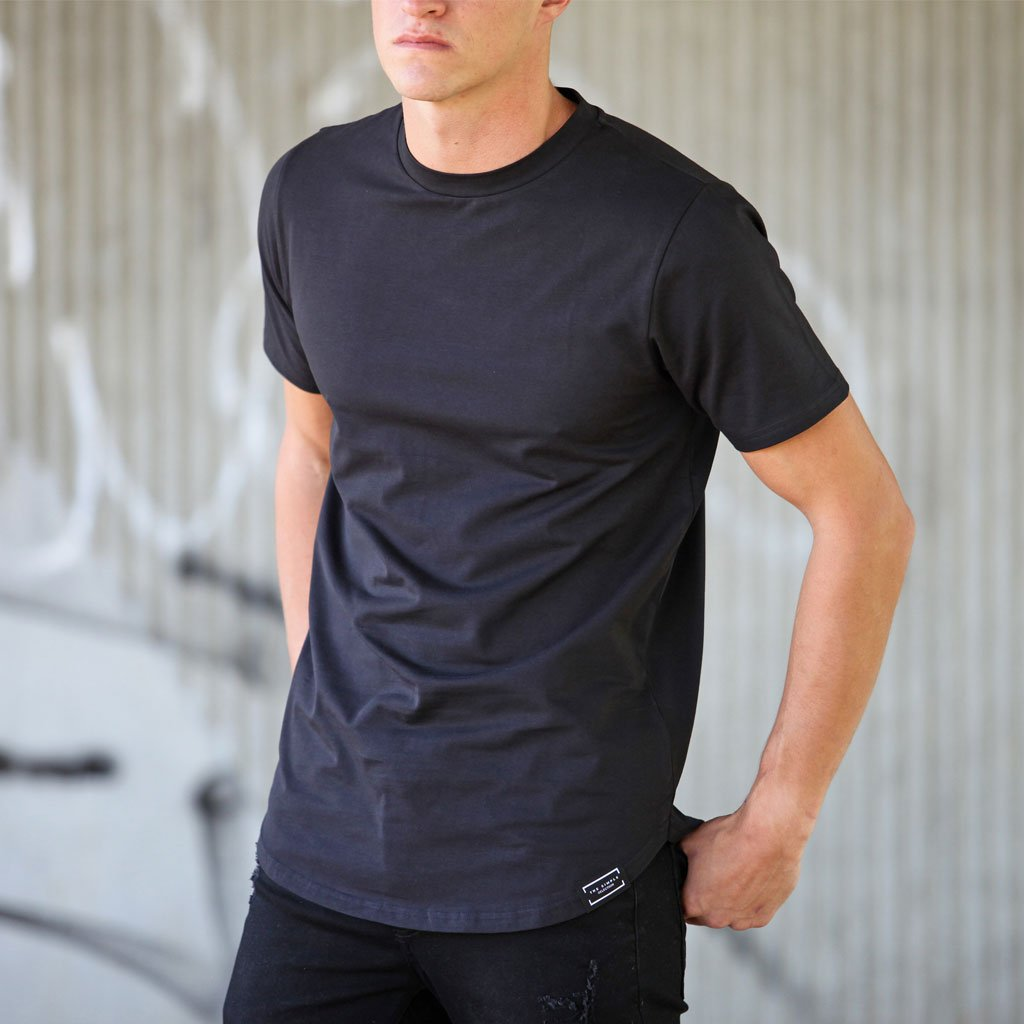 Curved Hem Plain Tees - The Simple Selection