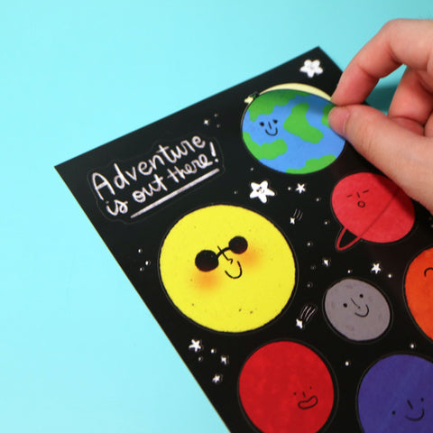 Adventure is Out There Sticker Sheet