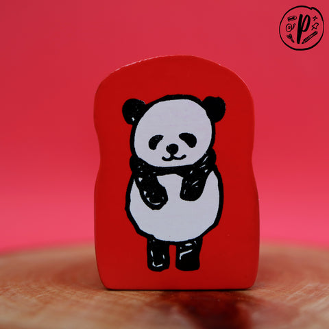 Kodomo no Kao Stamp: Panda Bow