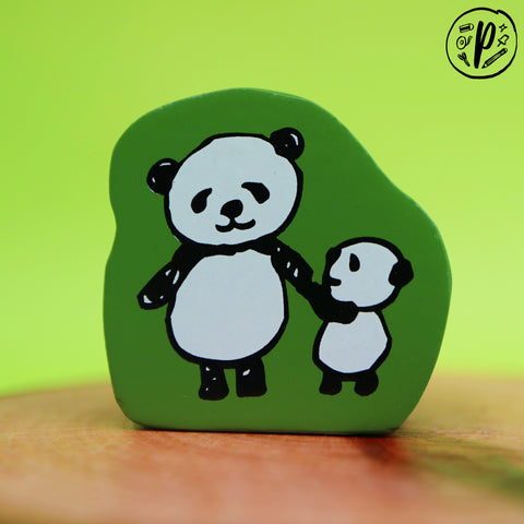 Kodomo no Kao Stamp: Panda Pair