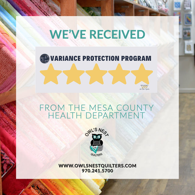We received our 5 star rating from the Mesa County Health Department which allows us to remain at the yellow level. Although the yellow level allows us to have 50% capacity, we are continuing to operate at a safe 25%.