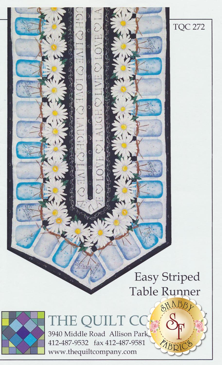 Easy Striped Table Runner pattern