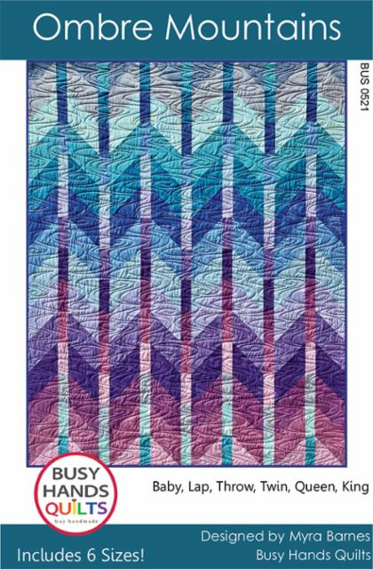 Ombre Mountains by Busy Hands Quilts