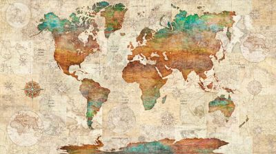 Wanderlust World Map panel