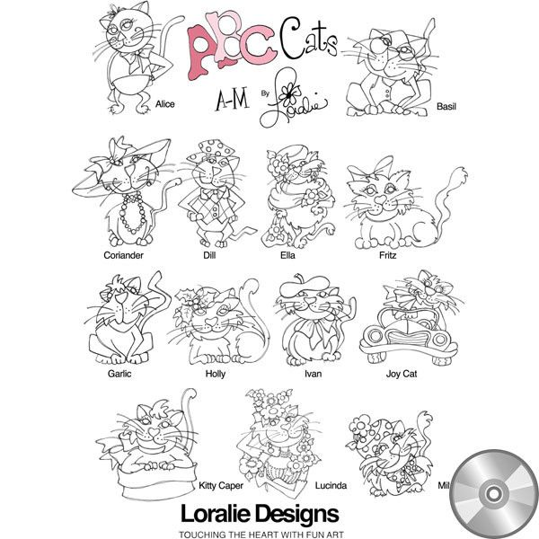 Loralie embroidery design CDs