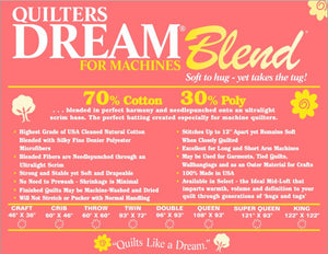 Quilter's Dream Blend 70/30 Collection