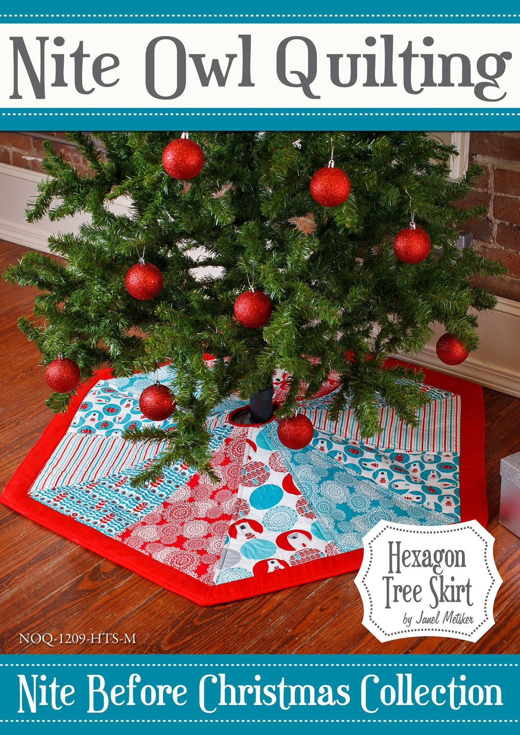 Nite Before Christmas Hexagon Tree Skirt pattern