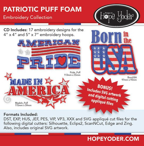 Patriotic Puff Foam