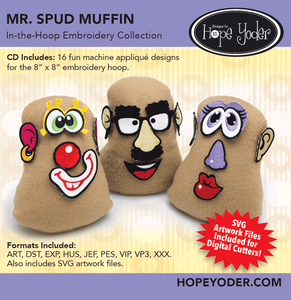 Mr. Spud Muffin Embroidery CD/SVG