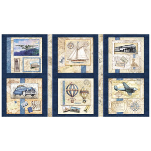 Wanderlust Picture Patches Navy panel
