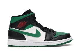 Jordan 1 mid green toe