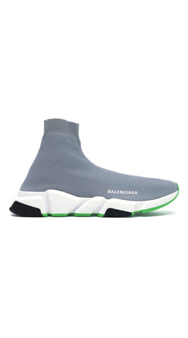 Balenciaga speed trainer gray green