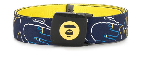 Bape BY *A bathing Bape graphic print buckle belt