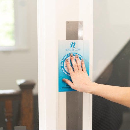 New Self Cleaning Antimicrobial Door Push Pad (Size 15.24cm x 22.86cm) - Nanoselfclean™