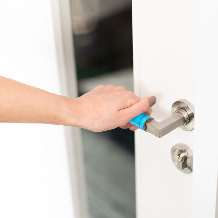 New Self Cleaning Antimicrobial Door Handle Wrap Small size 6.35cm x 10.16cm -20 pack - Nanoselfclean™