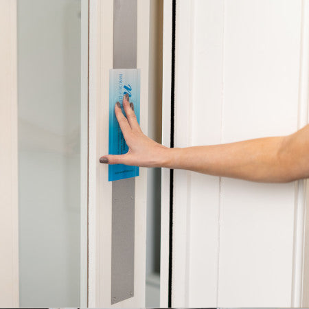 New Self Cleaning Antimicrobial Push Bar Door size 9.14cm x 30.48cm - 20 Pack - Nanoselfclean™