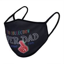 Load image into Gallery viewer, Super Dad Print Face Mask - Black Antimicrobial Coated - Nanoselfclean™